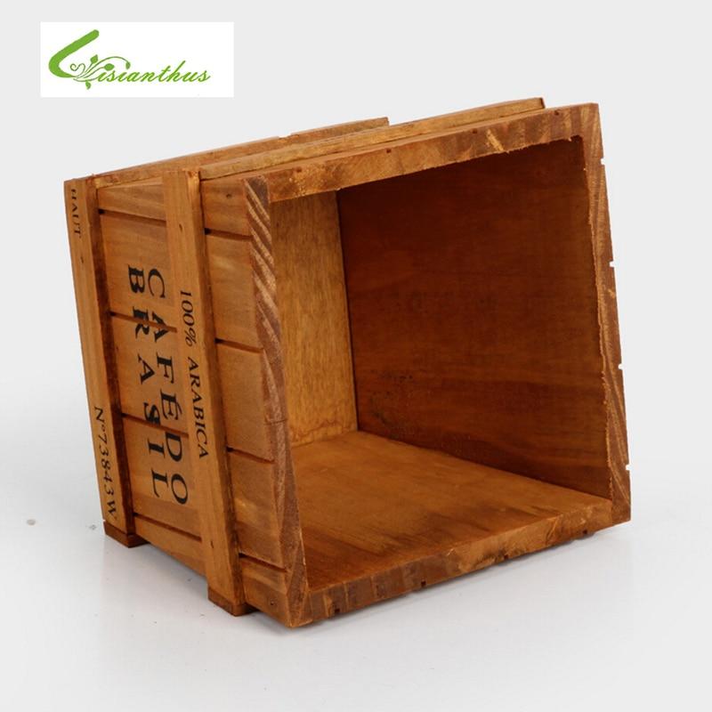 Compra macetas de madera online al por mayor de china - Maceta de madera ...