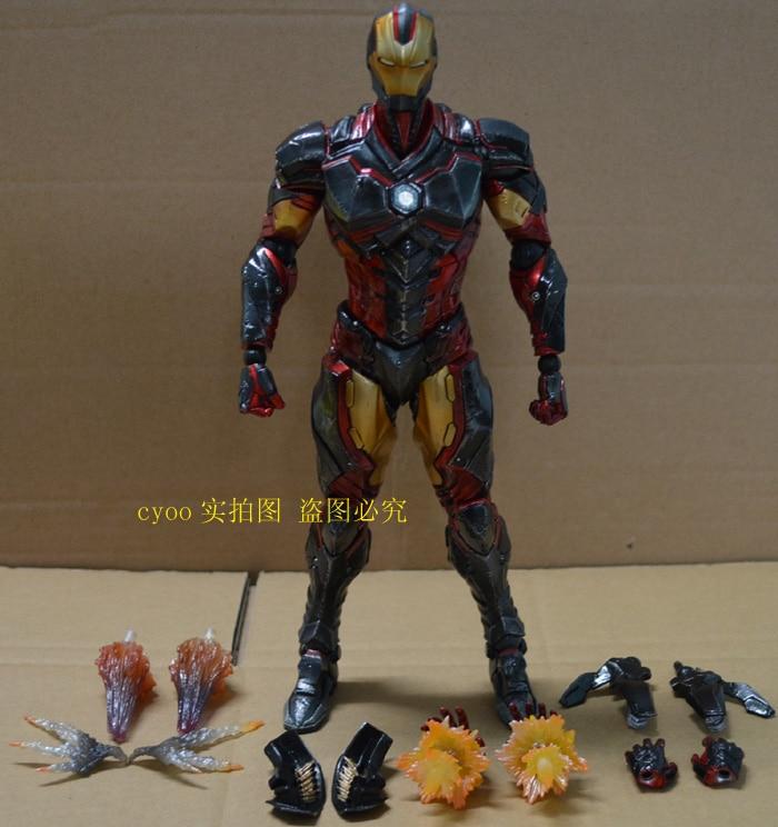 Original Play Arts Kai Iron Man Action Figure Collection Model Toys Figure 250mm Ironman Playarts Kai