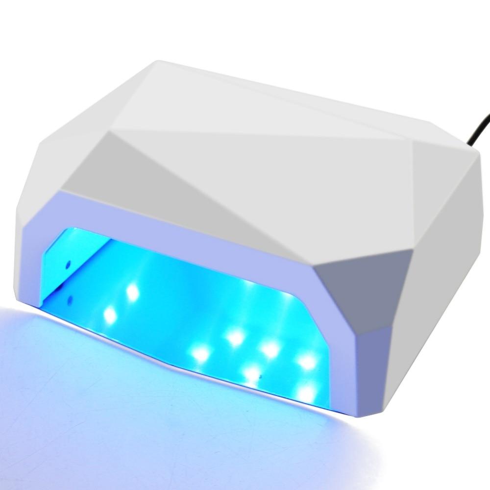 36 W UV Led Lampe Nagel Trockner 3 Farbe Diamant Geformt 15 Pcs Perlen UV Lampe Nagel Lampe Aushärtung für UV LED Gel Nagellack Nail art Werkzeuge