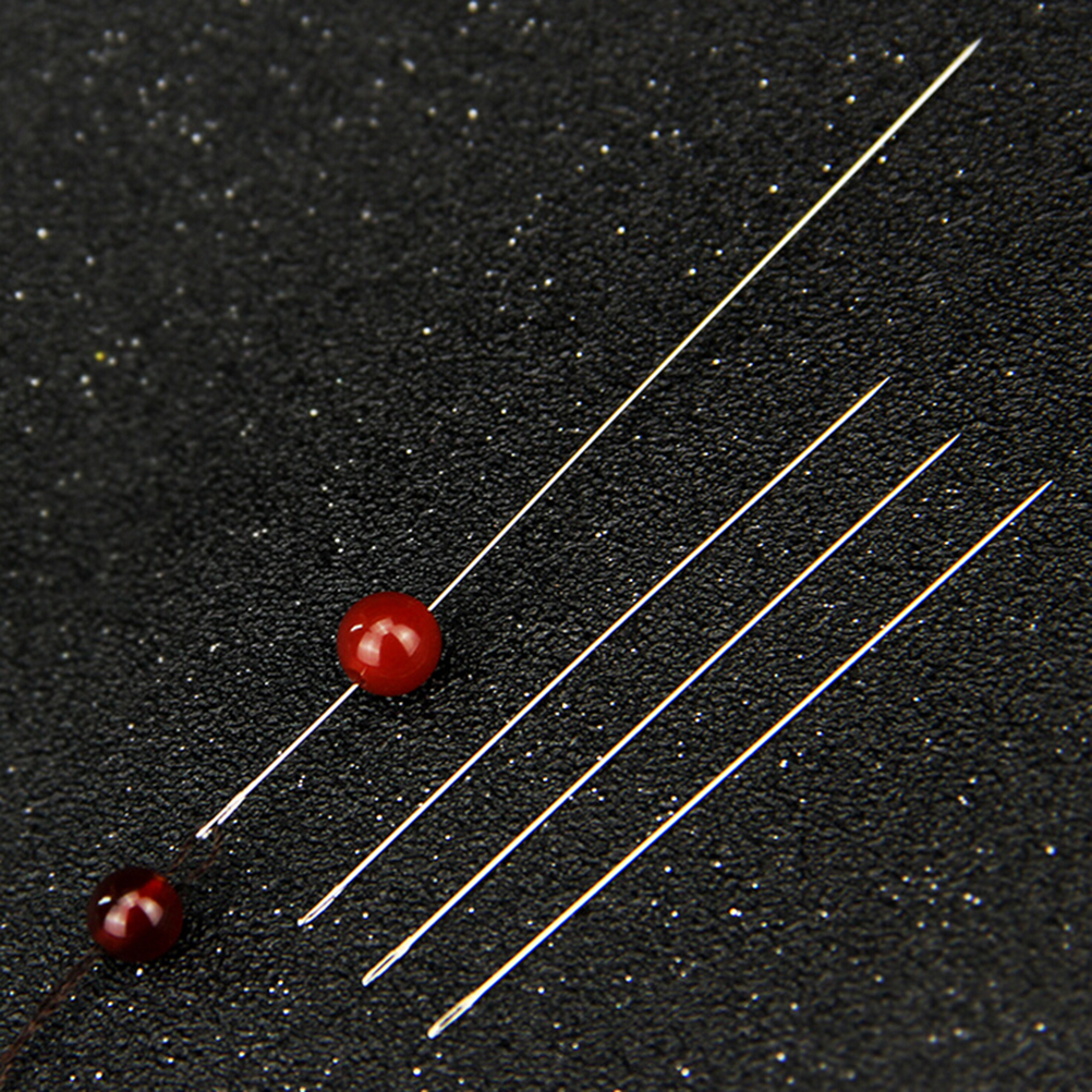 30 Pcs Big Eye Curved Beading Needles For Bracelet Necklace Stringing DIY 0.6x120mm