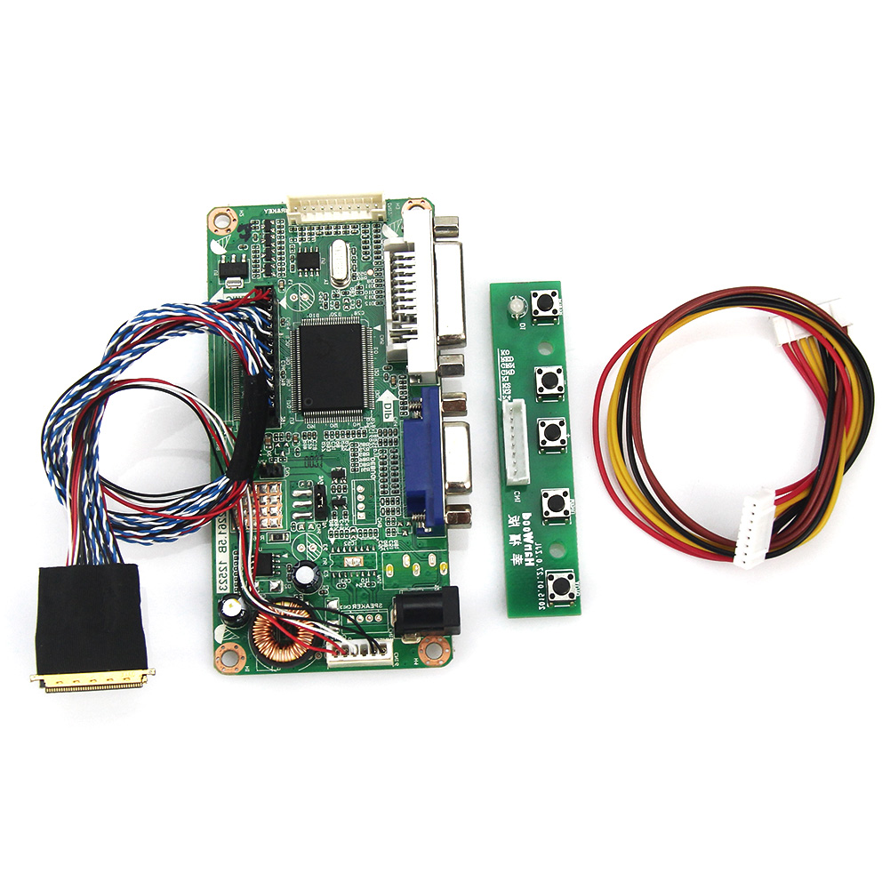 (VGA+DVI) For B101EW05 V.3 PQ101WX01 M.R2261 M.RT2281 LCD/LED Controller Driver Board LVDS Monitor Reuse Laptop 1280x800