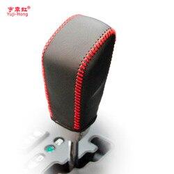 Cubiertas de engranaje de coche yuji-hong para Ssangyong Actyon 2006-2007 cambio automático de cuero genuino cosido a mano