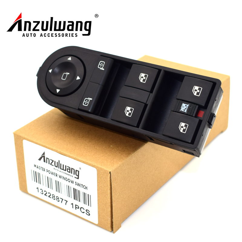 ANZULWANG Power window switch for Vauxhall OPEL ASTRA H ZAFIRA B 2004-2015 13228877 13215153