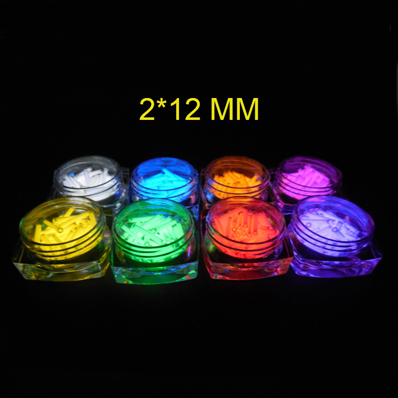 2*12mm EDC 1PC Tritium Gas Tube Self Luminous 25 Years Of High-tech Products Multi-color Selection Emergency Lights Accessories