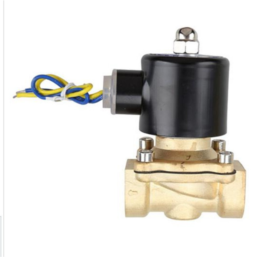 3/4 Electric Solenoid Valve Water Air Medium N/C Normally Closed 2W-200-20 12VDC 24VDC 110VAC 220VAC 2w 200 20 3 4 inch brass electric solenoid valve water air fuels n c dc 12v