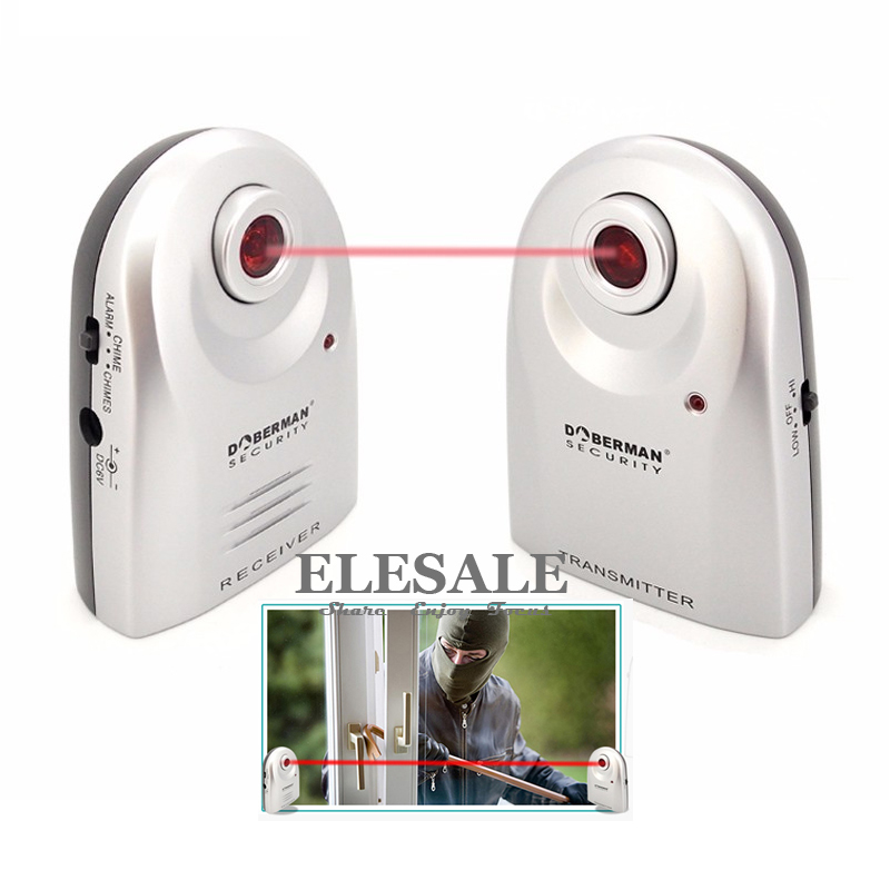 Security SE-0161 Entry Defender Infrared Beam Sensor Welcome Device Burglar Alarm System 2-In-1 For Home Security ...