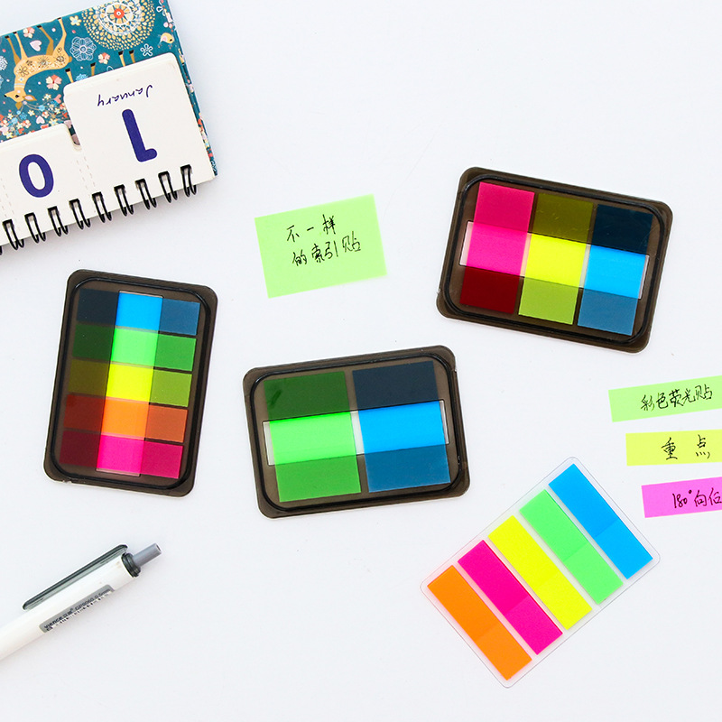 Message Notepad Bookmark Box Fluorescent Color Note Book Instructions Memo Sheets  Office And School Supplies Index Sticker