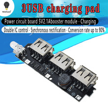 WAVGAT 5 V 1A 1.5A 2.1A 3 USB Accumulatori e caricabatterie di riserva Caricatore Circuito Step Up Boost Modulo di 18650 Li-Ion Caso Borsette kit FAI DA TE Powerbank(China)