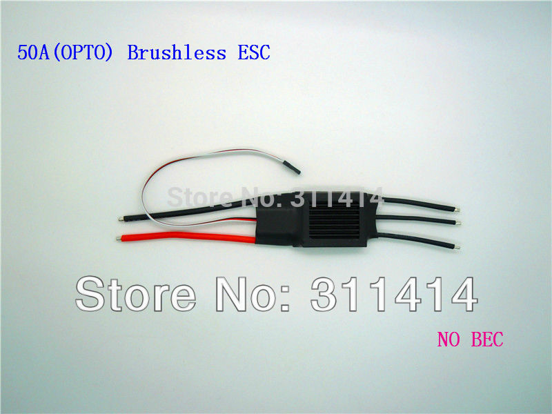 3pcs/lot RC 50A(OPTO) Brushless Motor ESC W/O BEC RC Speed Controller For RC Aircraft Helicopter Model Wholesale Promotion-in Parts & Accessories from Toys & Hobbies    1