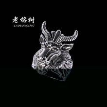 1pcs New High quality Satan Wutang Star Sheep Ring Men 's Titanium Steel Domineering Ring patry jewelry for male 4 size J002