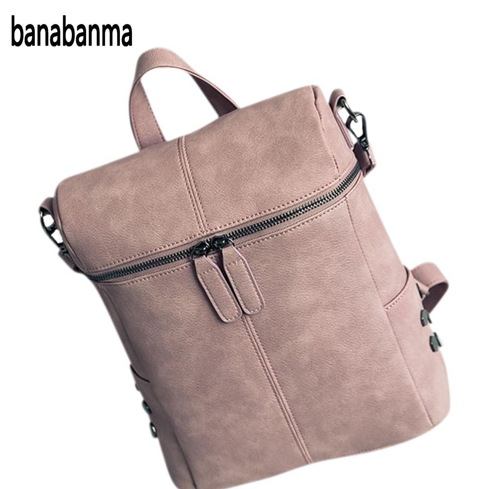 96102e5b6768 ᗗBanabanma модные Для женщин из искусственной кожи рюкзак заклепки ...