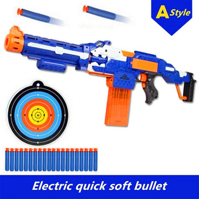 Электрический мягкой пуля игрушечный пистолет снайперская винтовка пластиковые можно разобрать и собран игрушечный пистолет для детей пи...