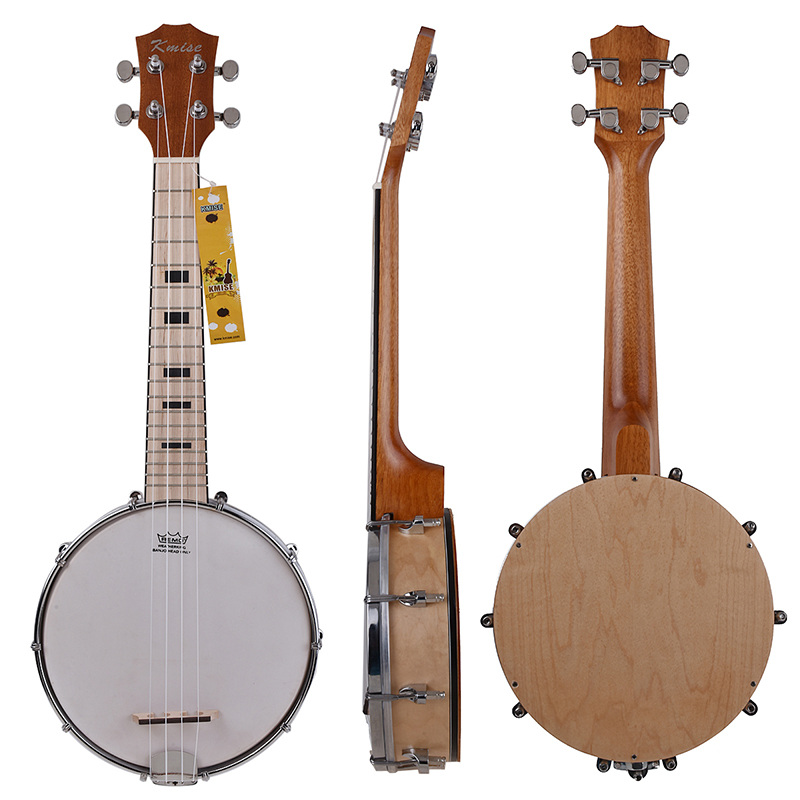 Kmise Banjo Ukulele 4 String Ukelele Uke Concert 23 Inch Size Maple Wood concert ukulele kmise uke 23 inch basswood black tint satin 4 string hawaii guitar with gig bag tuner