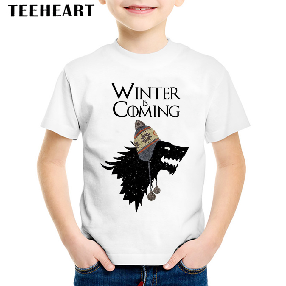 2017 Kids Summer Short Sleeve White T-shirts Children Girl Boy Game of Thrones T Shirt Baby Casual Fashion Tops Tees2017 Kids Summer Short Sleeve White T-shirts Children Girl Boy Game of Thrones T Shirt Baby Casual Fashion Tops Tees