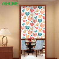 Quality Canvas NOREN Japanese Style Door Curtains Colorful Pink Love Curtain For Bedroom Kitchen Tapestry 85x100