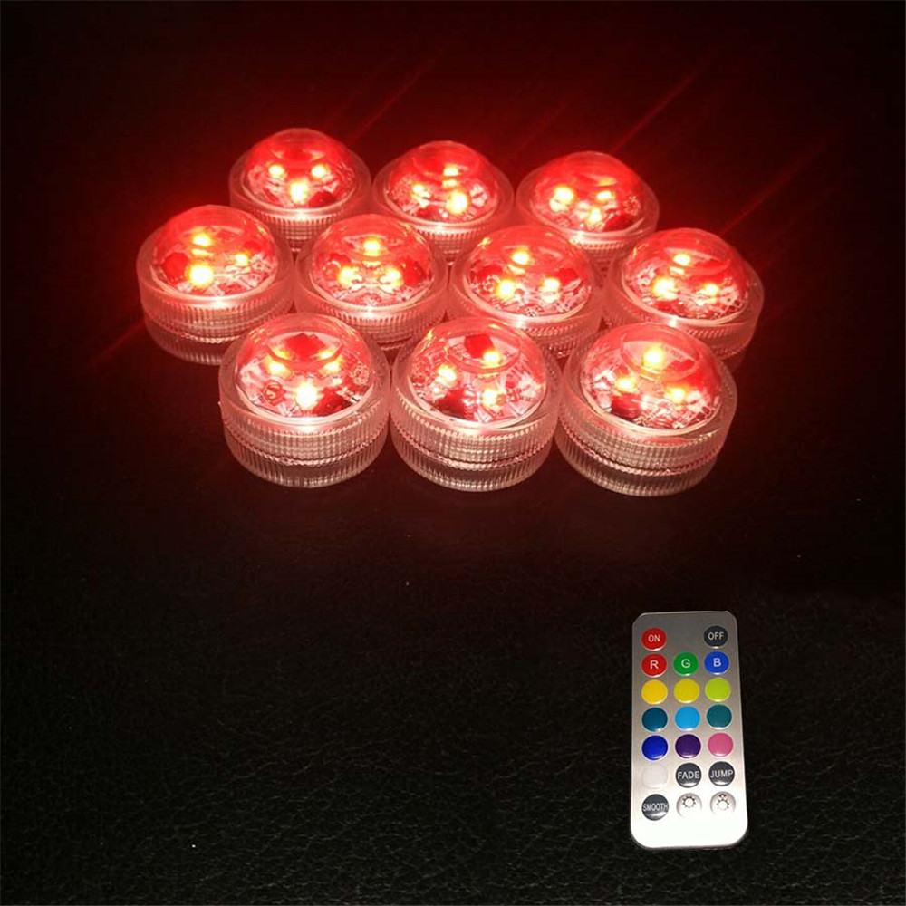 Spirited 10pcs*factory Vendor Vase 3led Multicolor Submersible Waterproof Floralyte Lights Wedding Party Centerpeices Holiday Tank Lights Holiday Lighting