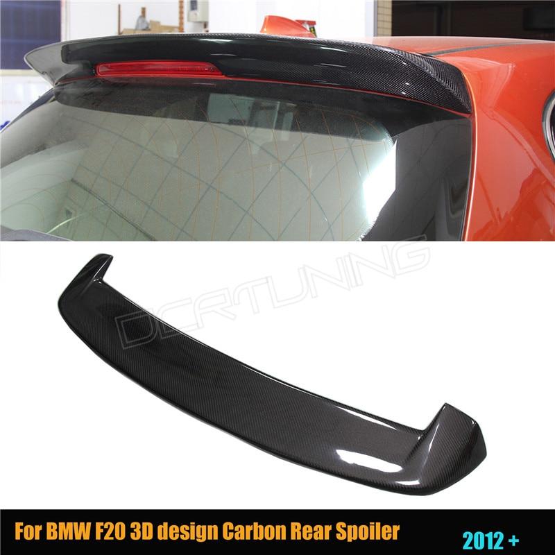 Prix pour Pour BMW F20 Carbone Spoiler 2012-2016 116i 118i 125i F20 F21 Spoiler 3D Conception En Fiber De Carbone Aileron Arrière De Voiture Style