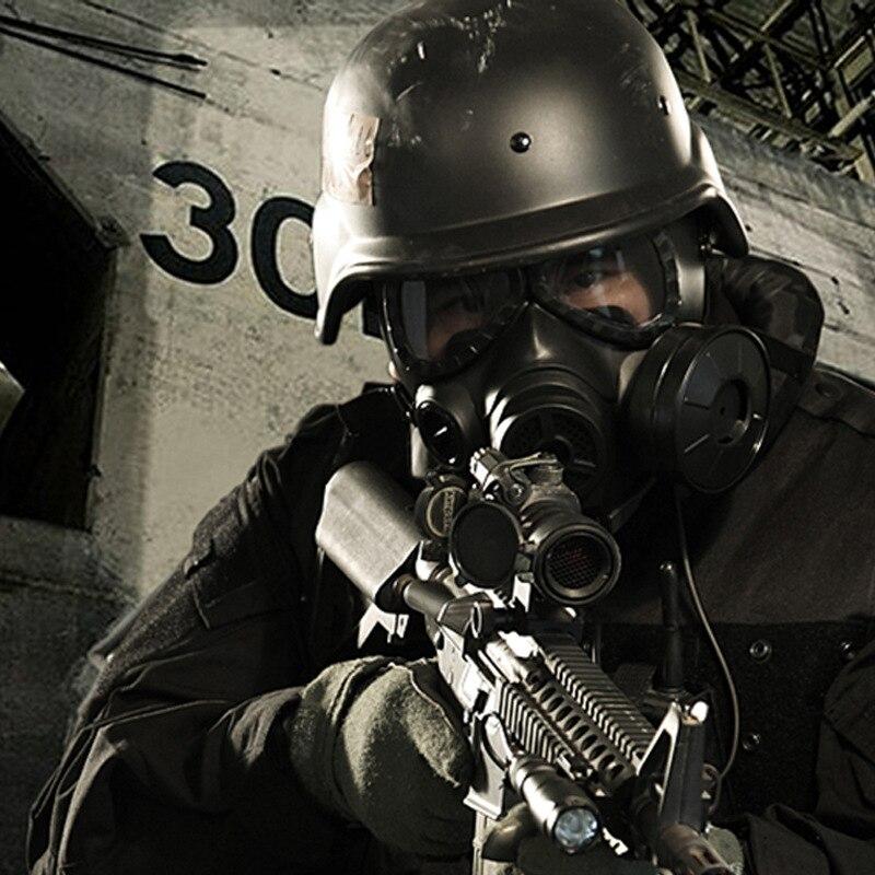 M04 ventilateur climatisation crâne masque à gaz biochimique Paintball Airsoft masque armée équipement militaire Macka respirateur Mascara