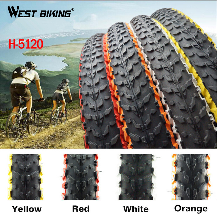 WEST BIKING Bicycle Tire ColorS H-5120 26 * 1.95 30TPI Soft Side Mountain Bike Tires Cycling Tyre 1 PCS саундтрек саундтрекbernstein west side story highlights