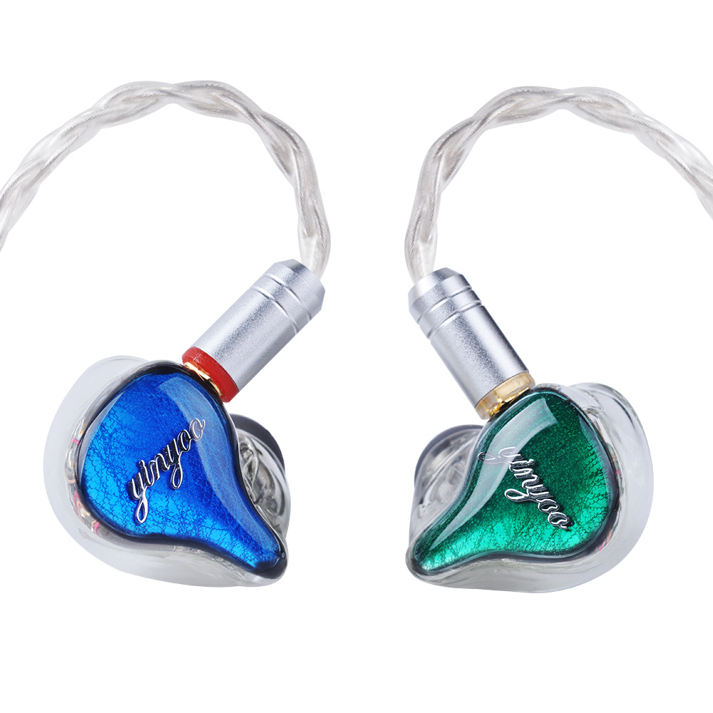 Yinyoo HQ10 10BA באוזן אוזניות תפור לפי מידה מאוזן אבזור סביב אוזן אוזניות אוזניות אוזניות עם MMCX זהה QDC פגז