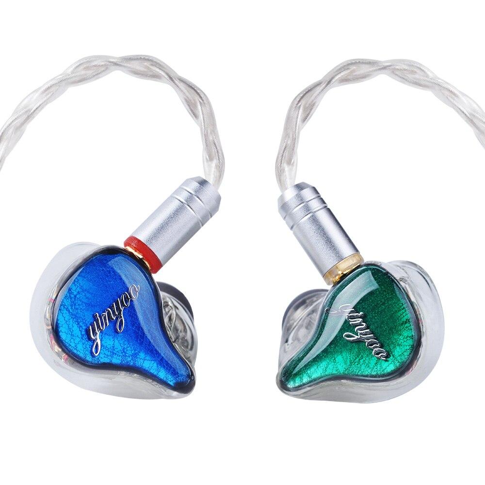 Yinyoo HQ10 10BA en el auricular del oído de armadura equilibrada alrededor de la oreja los auriculares Auriculares auriculares con MMCX como QDC shell