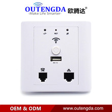 WPL6009 White WiFi Repeater Router in Wall AP Mini Wireless Access Point for Hotel Wi-Fi Coverage