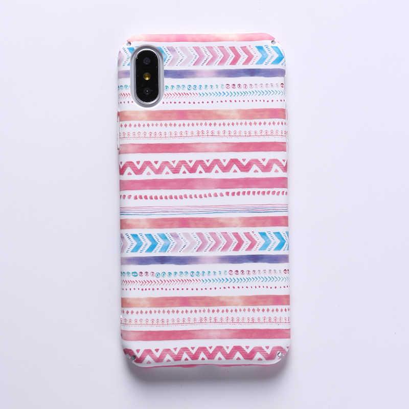 Модный геометрический графический рисунок чехол для iphone 7 Чехол для iphone 8 8 PLus чехол для телефона s красочная абстрактная задняя крышка