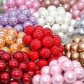 50 шт. 12 мм жемчужная тычинка, цветы из искусственного пластика, ягоды, украшения для свадебных торжеств, самодельные венки для скрапбукинга, ...