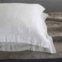 Oxford Pure Linen Bedding Set Queen Bed Flax Linen Sheet Set Washed Linen sheets Pillow cases Pillowcases Shams 4pcs