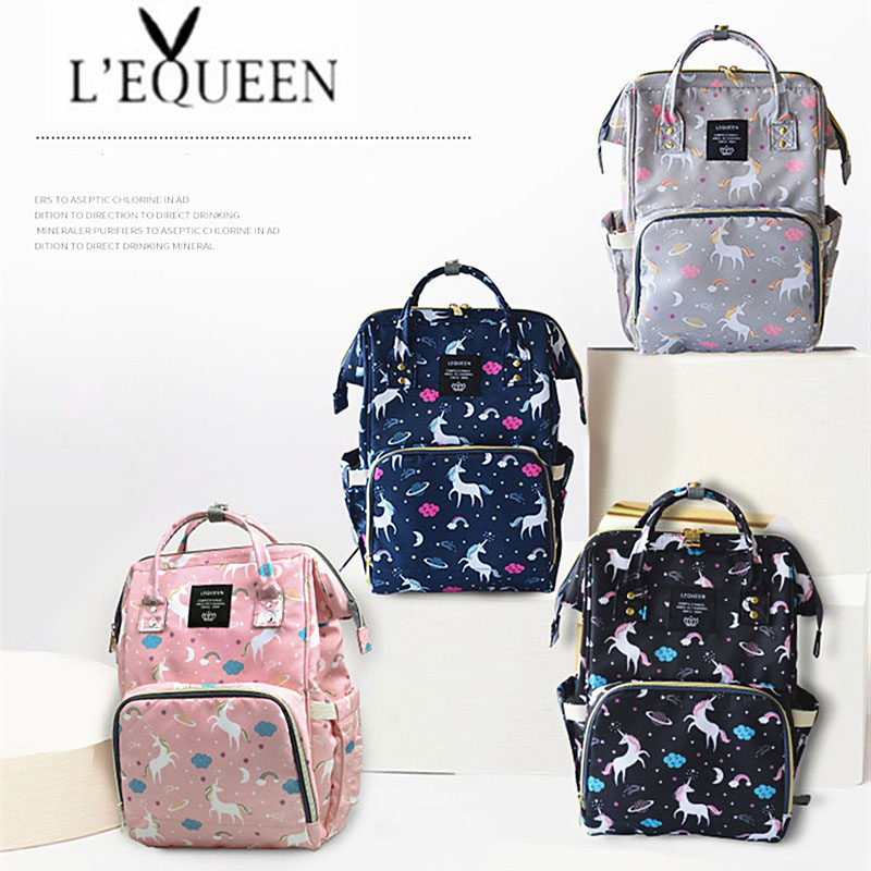 Lequeen Fashion Mummy Maternity Nappy Bag Large Capacity Nappy Bag Travel Backpack Nursing Bag for Baby Care Women's Fashion Bag 1
