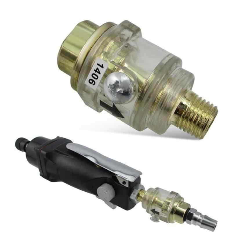 WJMY Mini Engrasador De Aire Comprimido 1//4 Mini Lubricador De Engrasador Para Tubo De Compresor De Aire De Herramienta Neum/ática 2 PCS