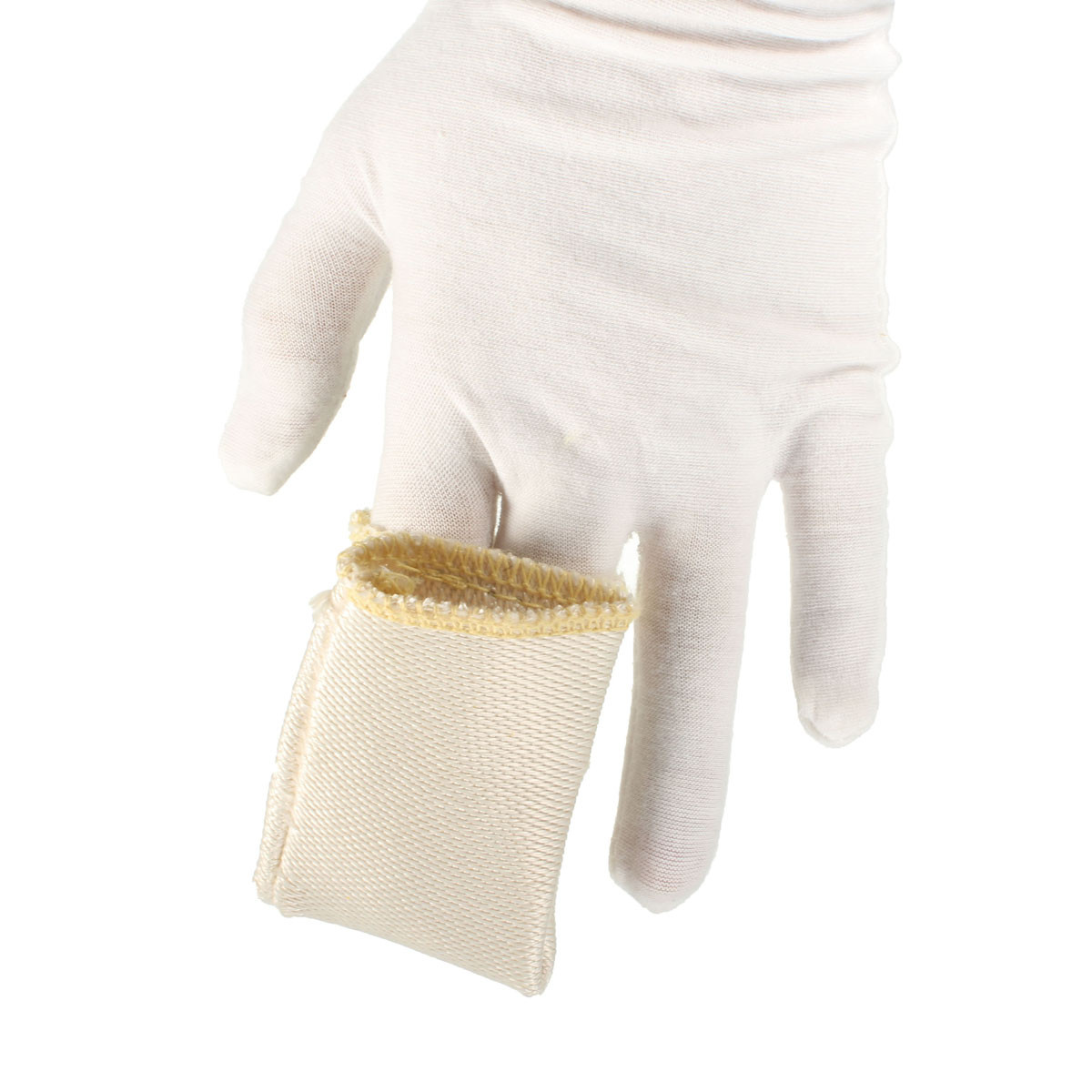 NEW Safurance Finger Glass Fiber Gloves Heat Shield Guard Protection For Welding Soldering Workplace Safety tig finger glove combo welder tool glass fiber welding gloves heat shield guard heat protection equipment by weld monger