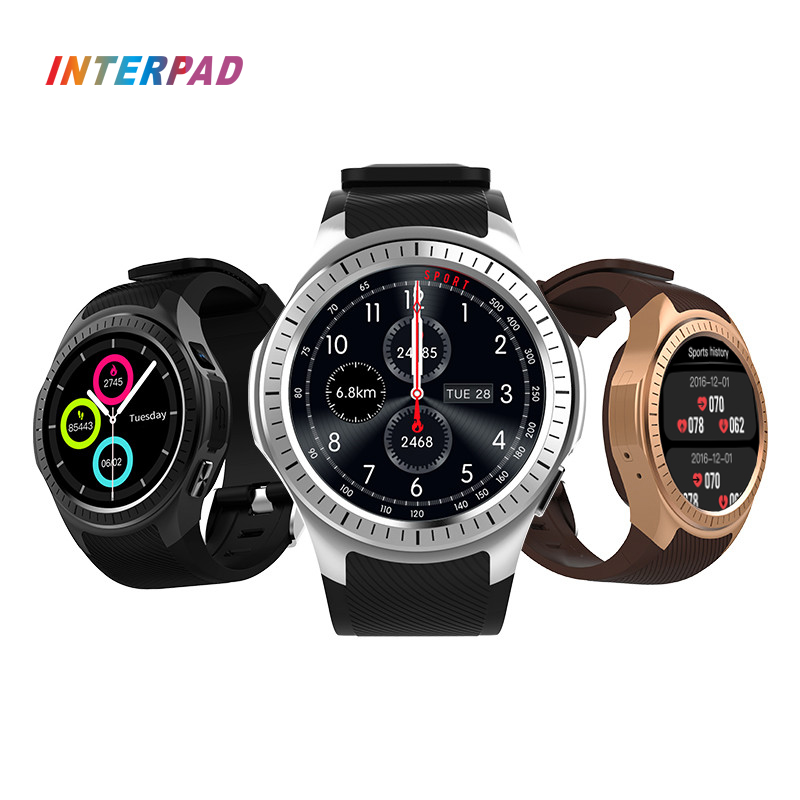 New Interpad L1 Smart Watch GPS Bluetooth Support Sleep Tracker Heart Rate Tracker Pedometer Blood Pressure Monitor Smartwatch epic bluetooth wifi gps heart rate smart watch phone for android ios 2g 3g pedometer sleep tracker health smart watch dm368