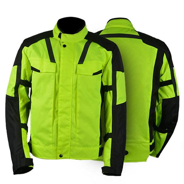 Nueva motocicleta armadura llena de chaqueta protectora moto chaquetas  chaqueta de moto impermeable y transpirable negro 6c3033d08ea37