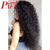 13*6 Lace Front Human Hair Wigs 250% Density Kinky Curly Wig Brazilian Remy Hair Middle Part bleached knots With baby hair PAFF