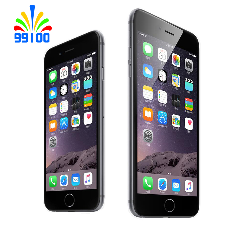 Б/у разблокированный Apple iphone 6 plus 5,5 дюймов 16 Гб/64 Гб/128 ГБ двухъядерный iphone 6 plus 1,4 ГГц 8,0 МП камера 3g WCDMA 4G LTE