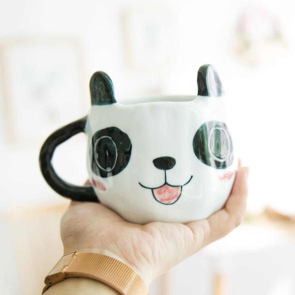 3D Cartoon Kawaii Panda Mugs ceramic cup milk coffee mugs tea cups thermal water bottles 150ml/360ml For Kids Christmas gift