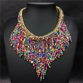 Handmade Long Tassel Necklaces