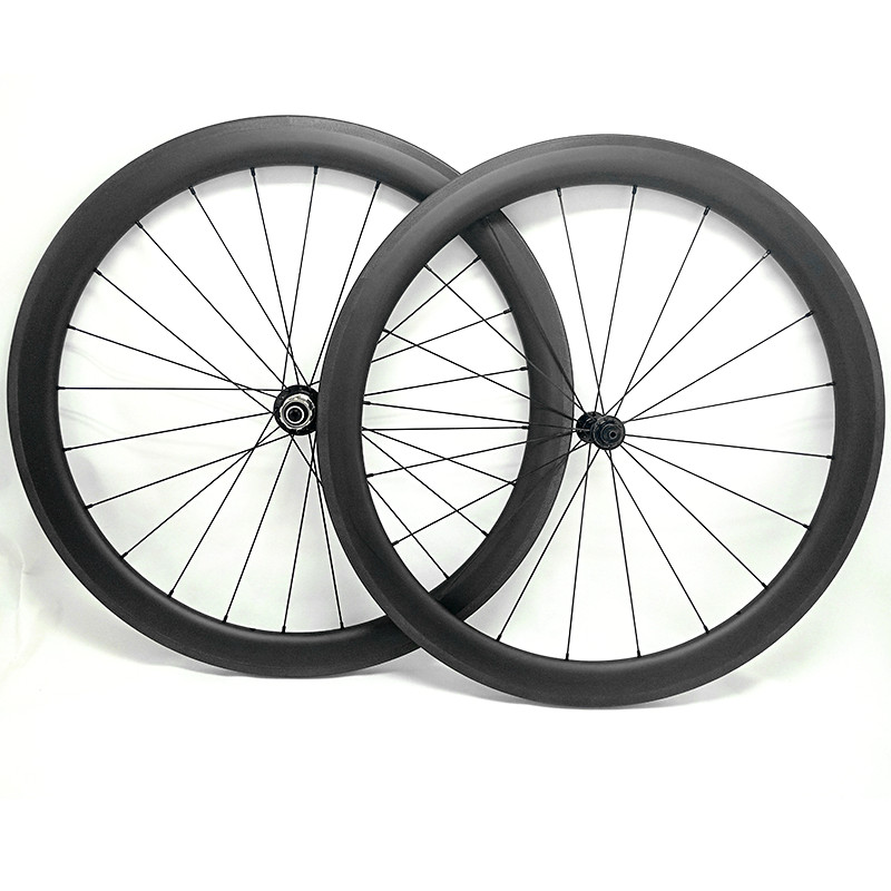 Go-zone 700c road bike wheels 60x25mm clincher or tubular roue carbone pour velo route Powerway R13 100x9 130x9 carbon wheelset(China)