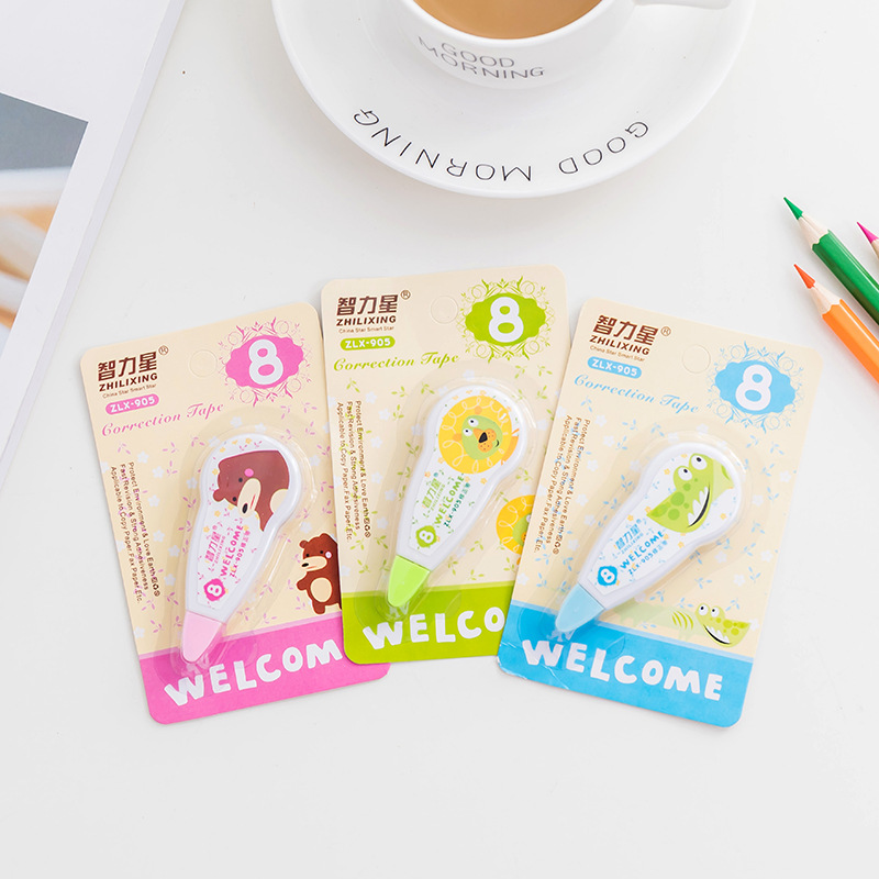 8m*5mm Kawaii Cartoon Correction Tape Colorful Decorative Correction Tape Altered Tools Korean Students Stationery