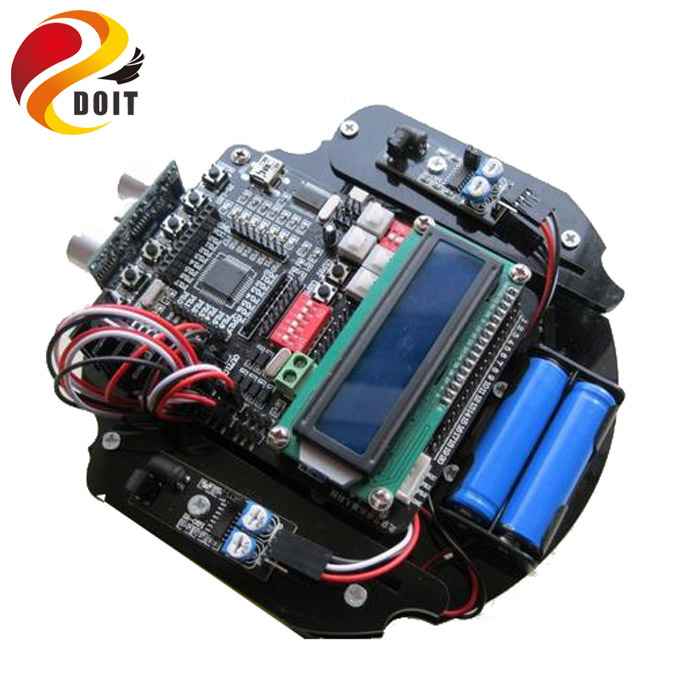 Original DOIT C51 MCU Car Chassis Robot Development Board Steering Remote Control Intelligent Barrowload R2 DIY RC Tank original doit silver c300 metal 4wd wheel car chassis development kit remote control diy rc toy smart robot car model