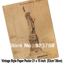 Buy blueprint paper and get free shipping on aliexpress mixed order and combine shipping xxl vintage wall the statue of liberty blueprints 21x15 inch paper malvernweather Choice Image