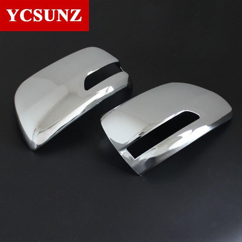 Prix pour 2010-2017 Pour Toyota Land Cruiser Prado Accessoires Chrome Couverture De Miroir Pour Toyota Land Cruiser Prado Fj150 Ycsunz