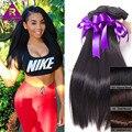 Она Волосы Бразильский Виргинский Волосы Прямые Человеческие Волосы Ткет 8А Бразильской Прямые Волосы 4 Пучки Бразильские Queen Weave Beauty