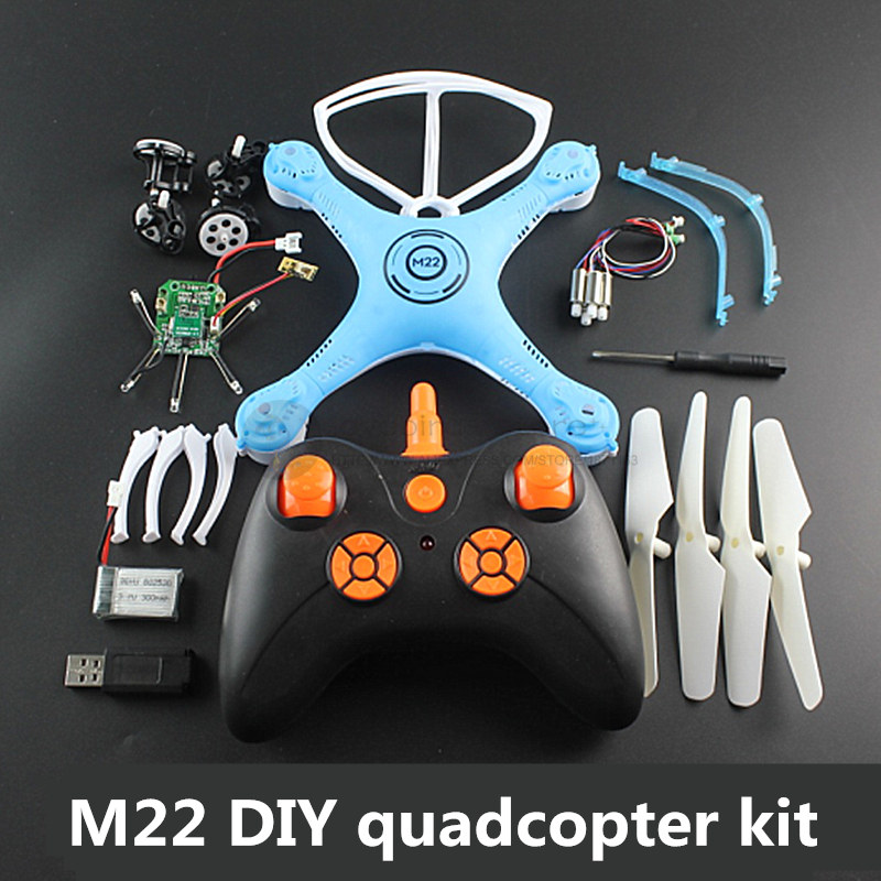 DIY toy M22 2.4G FPV quadcopter kit Children maker culture mini drone kit No welding assembly f04305 sim900 gprs gsm development board kit quad band module for diy rc quadcopter drone fpv