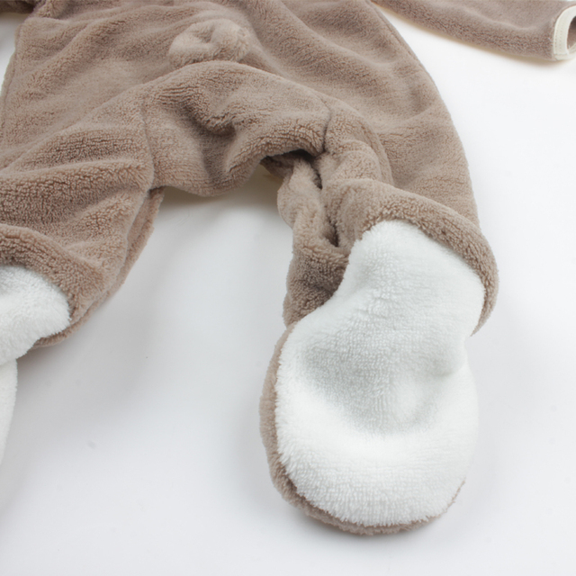 Cute Teddy Coral Fleece Newborn Baby Costume