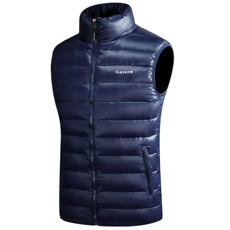 Winter Warm Down Vest For Men Autumn Casual Male White Duck Down Parka Sleeveless Jacket Varsity Mens Thick Ultralight Waistcoat