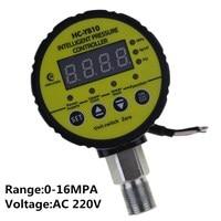 0 16Mpa AC 220V Hydraulic Air Compressor Digital Pressure Switch M20 x 1.5