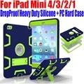 Para ipad mini 4/3/2/1 de silicona + pc hard case niños seguro Gota A Prueba de Golpes Armor Heavy Duty con Protector de Pantalla IM409