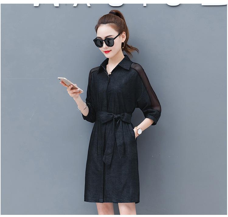 Dress female spring and autumn 2019 new fashion commuter slim strapless denim dress tide vestido Q280 24